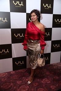 Devita Saraf, Chairman VU Television living the VU Life with the VU Premium Android TV (Cinema Night)