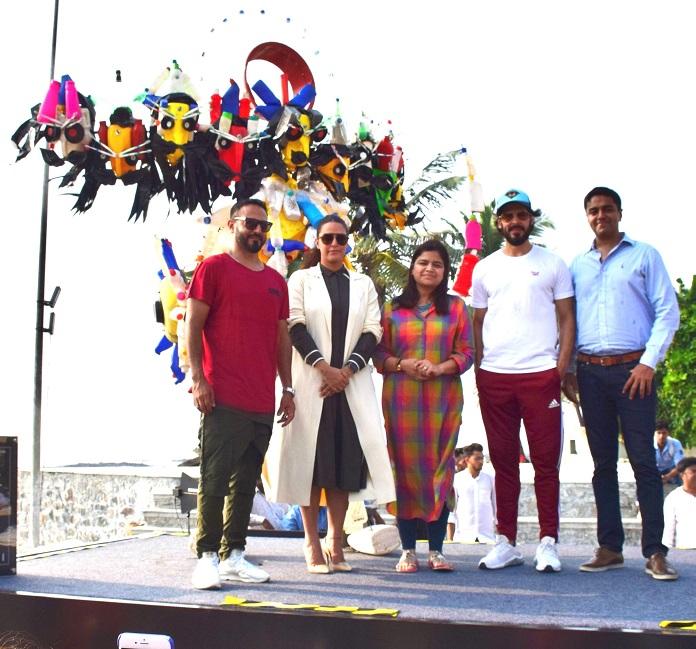 Nikhil Chinapa, Neha Dhupia, Poonam Mahajan, Dino Morea and Navin Shenoy at MTV Trash Talk
