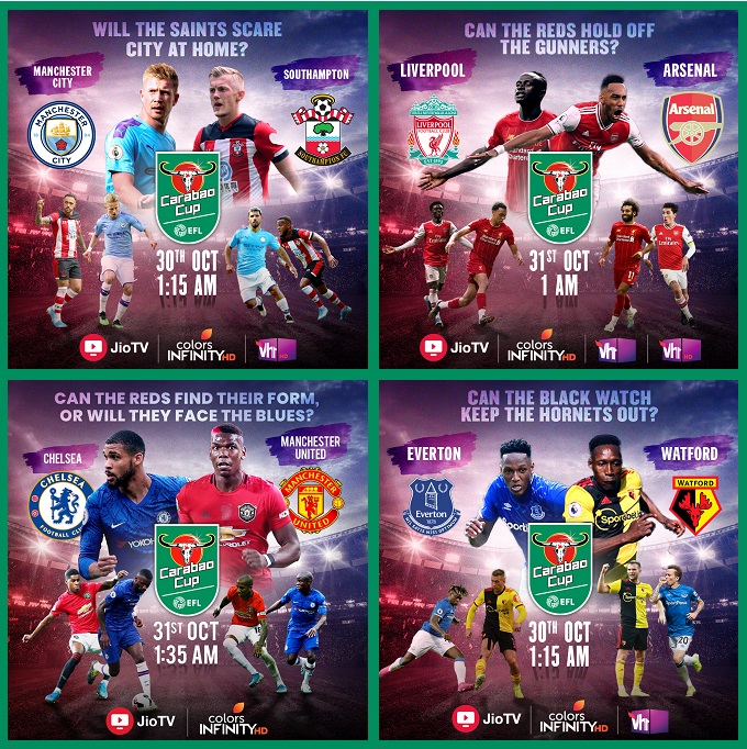 image-Carabao Cup - matches - on VH1 Colors Infinity on 30 and 31 October - MediaBrief