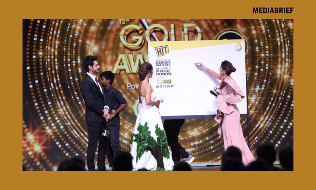 image-sunny leone celebs platelet donation gold award Mediabrief