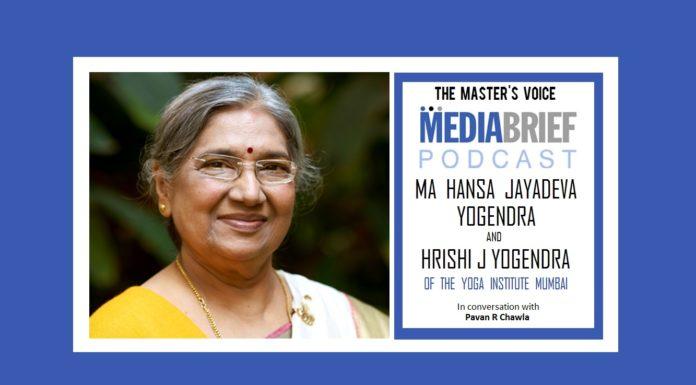 image-smt hansa ji jayadeva yogendra on mediabrief podcast The Masters Voice with Pavan R Chawla