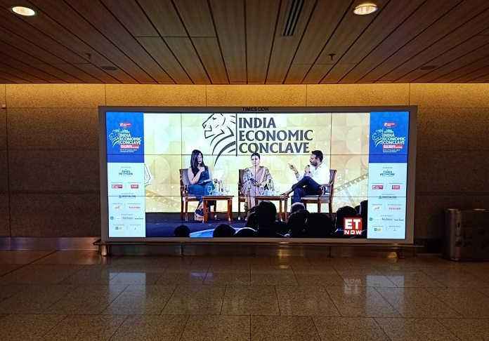 Times OOH live-streams India Economic Conclave 2019 with Giant LED Video-walls at Mumbai International Airport