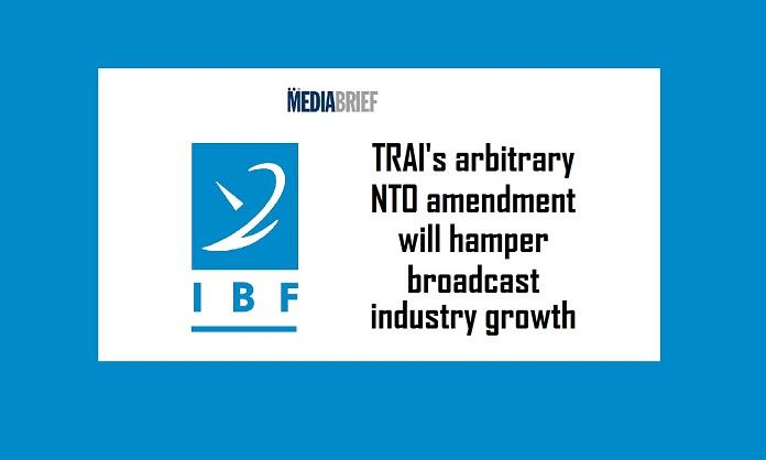 image IBF decries TRAI NTO Amendment -MediaBrief