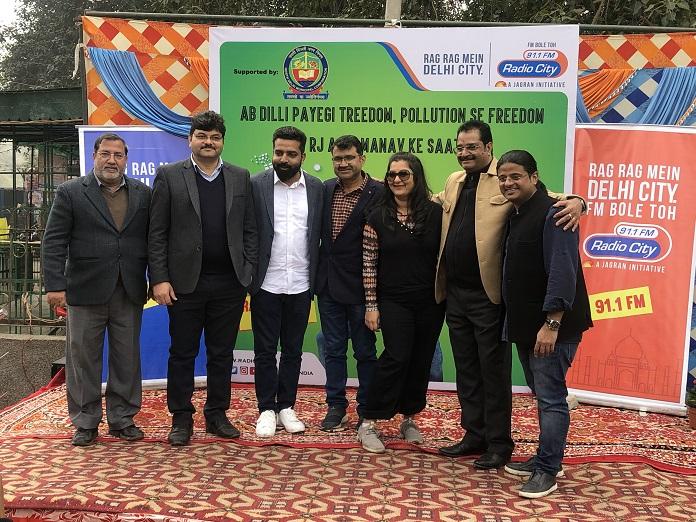 Radio City Delhi's RJ Aadi, RJManav and RJ Ginnie
