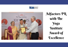 image-Adfactors PR, The Yoga Institute's Award of Excellence for Contribution To Society Mediabrief