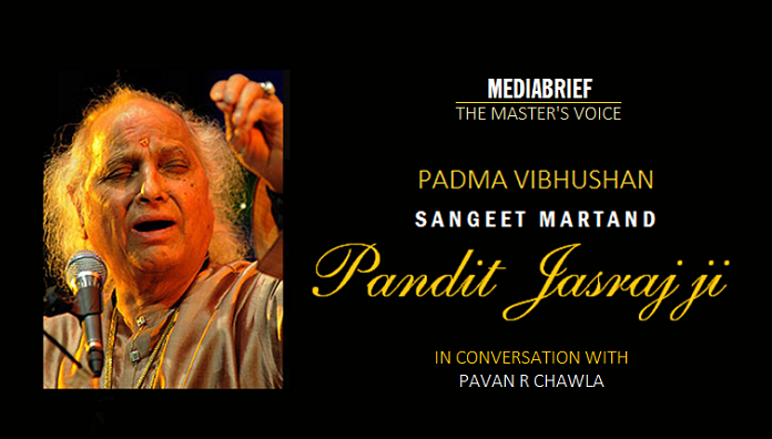 image-Pandit-Jasraj-on-MediaBrief's-Podcast-The-Master's-Voice-with-Pavan-R-Chawla