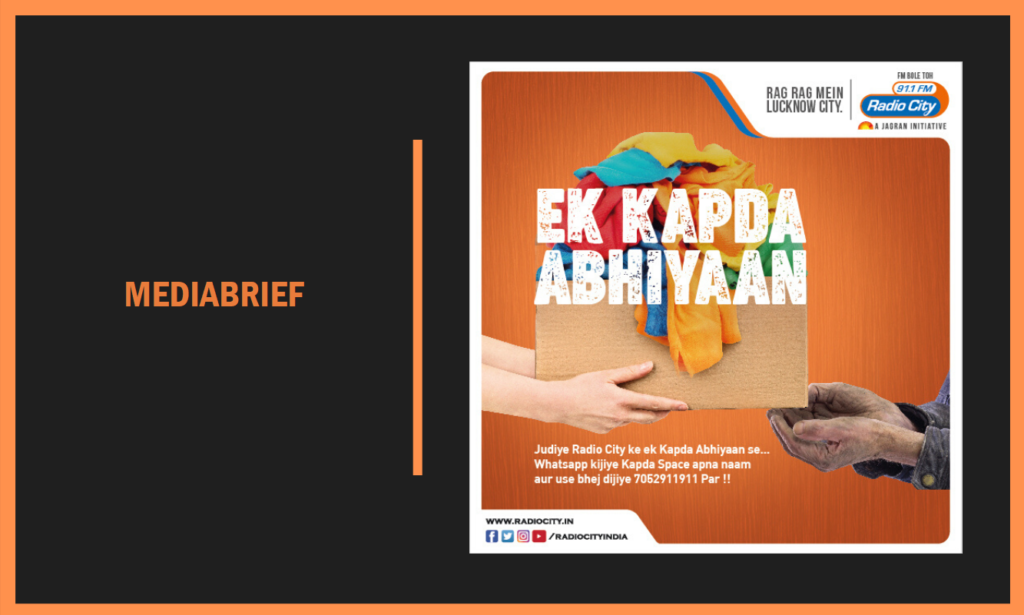 image-This winter, Radio City extends a helping hand to the underprivileged in U.P through Ek Kapda Abhiyaan Mediabrief