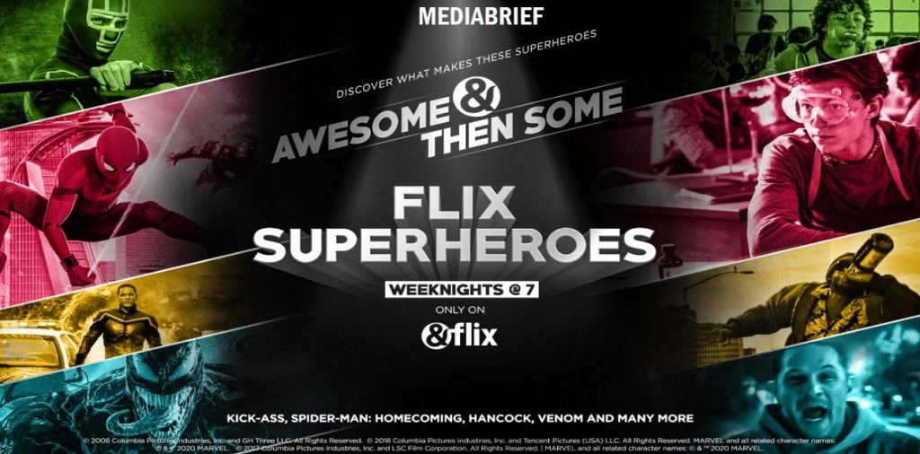 image-Superheroes now have a new home! Watch blockbuster superhero movies only on &flix Mediabrief