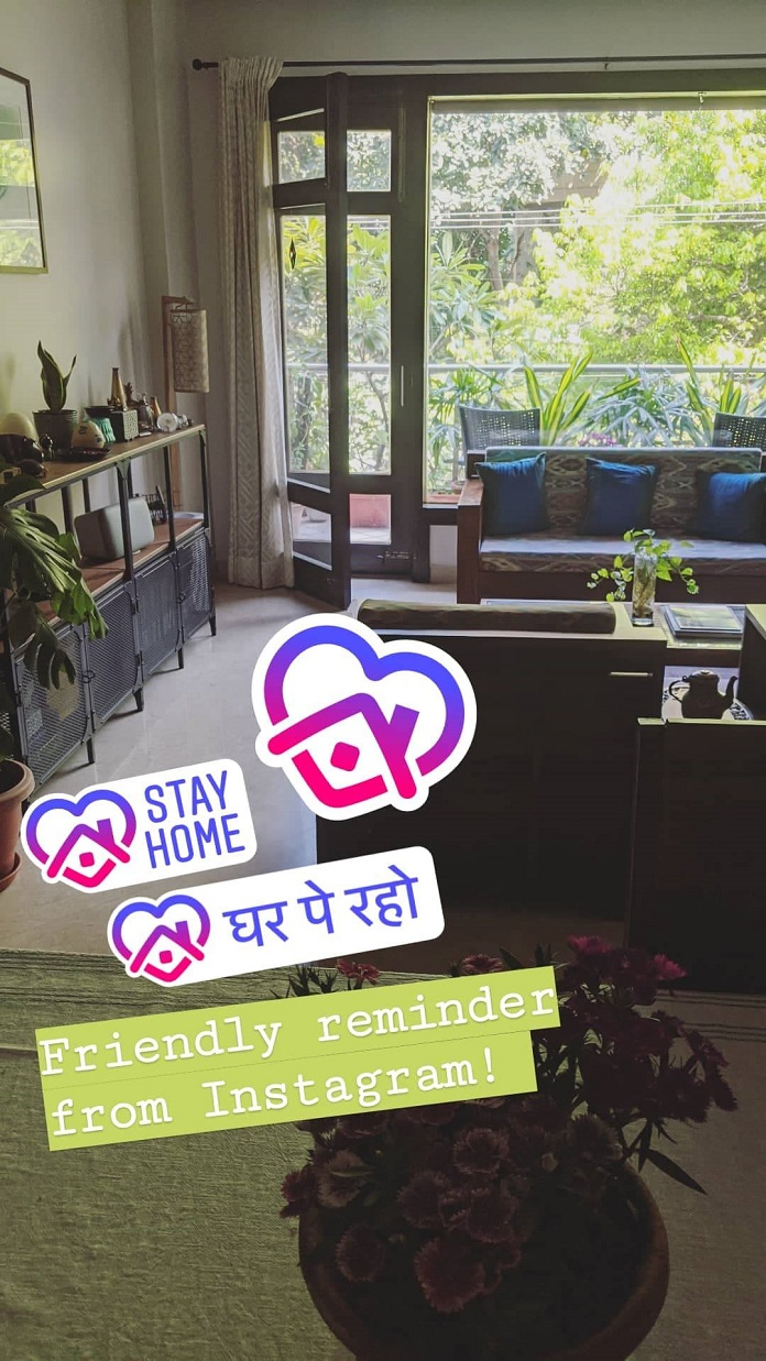 Instagram launches a sticker to spread the message of staying at home