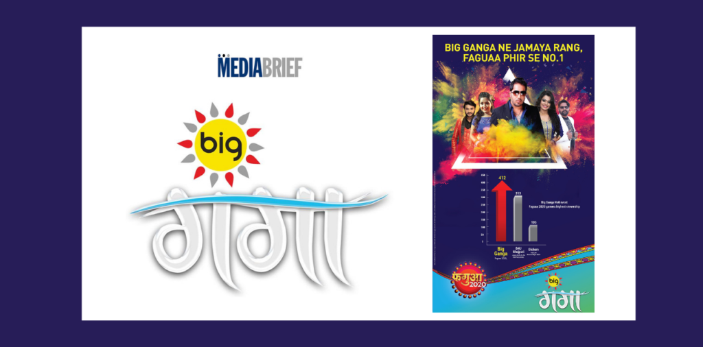 image-BIG Ganga Tops the charts again with its Special Holi Line-up 'Faguaa' garnering the Highest Viewership Mediabrief