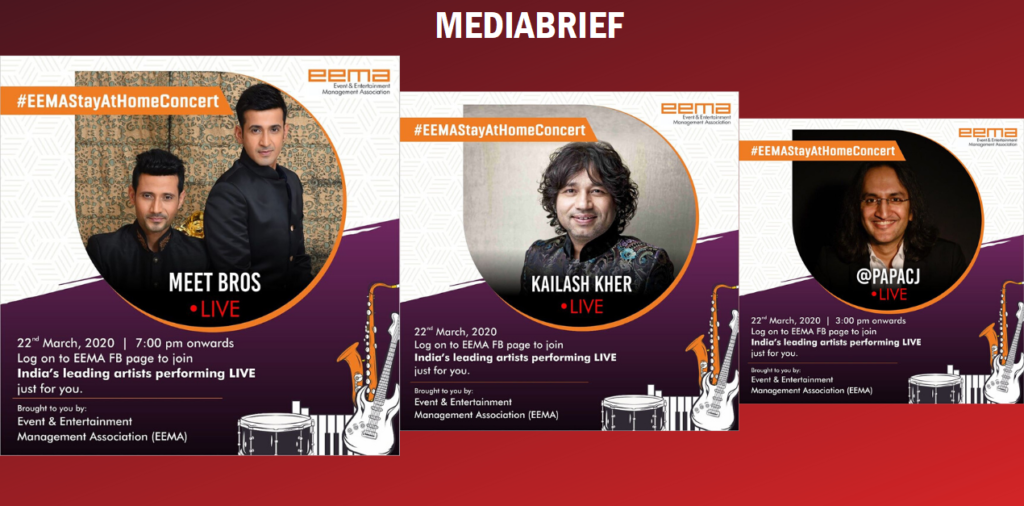image-Meet Brothers, Kailash Kher, Papa CJ And Others were On At EEMA's First Ever #StayAtHomeConcert Mediabrief