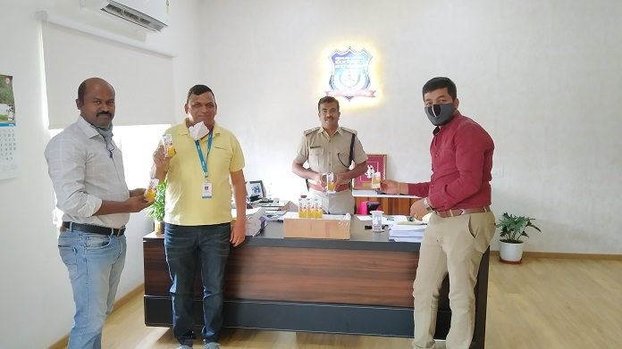 Prolyte_packs distributed to Bangalore police