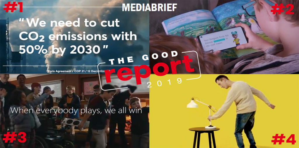 image-The Good Report celebrating the best campaigns for social & environmental responsibility 2019 Mediabrief