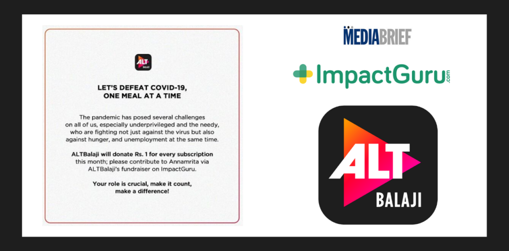 image-ALTBalaji asks for support to defeat COVID-19, one meal at a time for the underprivileged amidst lockdown Mediabrief