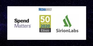 image-Sirion-Labs-named-in-50 to know for 2020-list-of-Spendmatters-Almanac-Mediabrief
