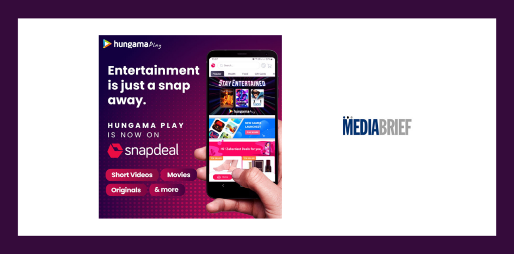 image-Snapdeal partners with Hungama Play for video streaming Mediabrief