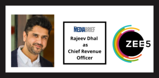 image-ZEE5 India appoints Rajeev Dhal as its Chief Revenue Officer to drive next stage of growth Mediabrief