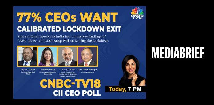 50% of CEOs polled by CNBC TV18 & CII expect their company toplines to fall by 25% this year