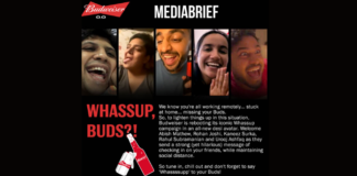 Stay together at a distance, Budweiser tells Buds through reimagined 'Whassup' ad
