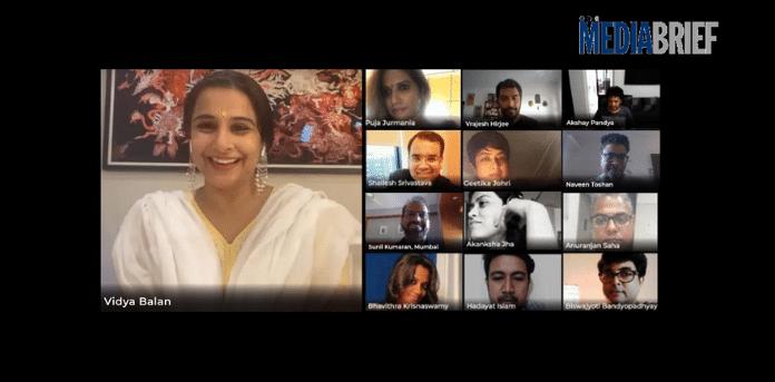 Vidya Balan spreads positivity amongst BIG FM workforce through its morning show