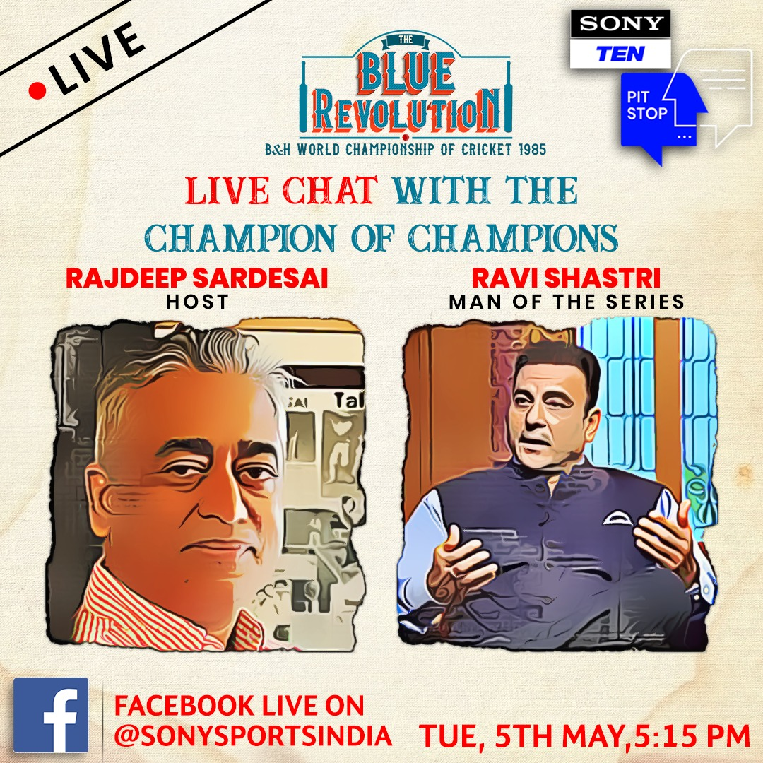 Watch Rajdeep Sardesai LIVE in conversation with Ravi Shastri on 5th May 2020