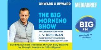 image-LV Krishnan on BIG FM Show - i- Shooting Up In-Home Consumption - TAM - MediaBrief