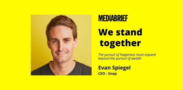 image-We Stand Together memo by Evan Spiegel - CEO -Snap - MediaBrief