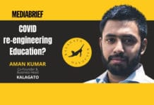 image-Aman Kumar of KalaGato on COVID reengineering Online Education - MediaBrief
