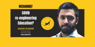 image-Aman Kumar of KalaGato on COVID reengineering Online Education - MediaBrief