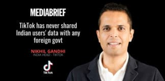 image-TikTok never shared Indian users' data with any foreign govt - Nikhil Gandhi India Head TikTok on Mediabrief