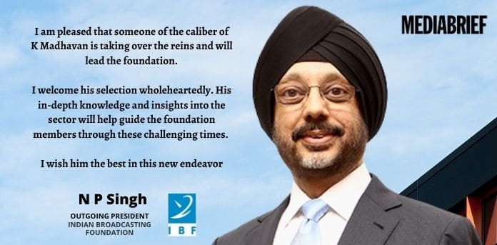 image- N P SINGH, outgoing IBF President showers praise on new incumbent K Madhavan - MediaBrief