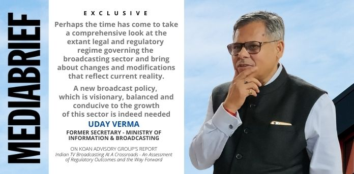 image-blurb-Uday Verma - Former I&B Secy - Koan Report – Is TRAI merited as the premium broadcasting regulator-MediaBrief