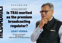image-exclusive-Uday Verma - Former I&B Secy - Koan Report – Is TRAI merited as the premium broadcasting regulator-MediaBrief