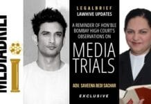 IMAGE-LEGAL-BRIEF - EXCLUSIVE-ADVOCATE SAVEENA BEDI SACHAR ON MEDIA TRIALS BOMBAY HC OBSERVATIONS MEDIABRIEF